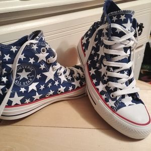 Awesome White Stars Converse🇺🇸